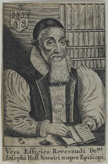 Joseph Hall, possibly by William Faithorne, after  William Marshall - NPG D22761