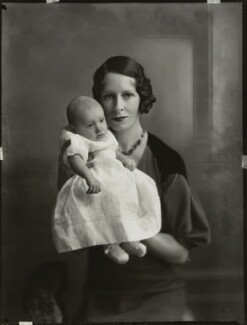 Marchioness of Hertford with her mother Princess de Chimay, by Bassano Ltd - NPG x150809