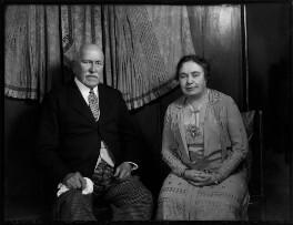Catharine Allanson-Winn (née Lovibond), Lady Headley; Rowland George Allanson Allanson-Winn, 5th Baron Headley, by Bassano Ltd - NPG x150822