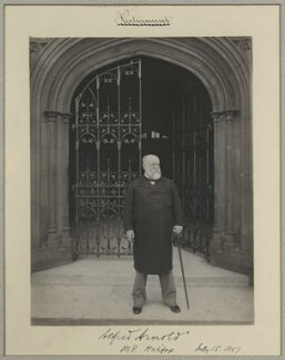 Sir Alfred Arnold, by Benjamin Stone - NPG x8272