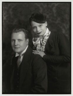 Constant Lambert; Florence Lambert (née Kaye, later Hole), by Bassano Ltd - NPG x150854