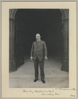 Stanley Baldwin, 1st Earl Baldwin, by Benjamin Stone - NPG x8281