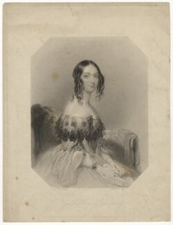 Mary Augusta Frederica Pleydell-Bouverie (née Grimston), Countess of Radnor when Viscountess Folkestone, by Henry Bryan Hall, after  John Hayter - NPG D23310