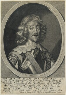 Henry Rich, 1st Earl of Holland, by William Faithorne, published by  Sir Robert Peake, after  Sir Anthony van Dyck - NPG D22787