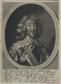 Henry Rich, 1st Earl of Holland, by William Faithorne, published by  Sir Robert Peake, after  Sir Anthony van Dyck - NPG D22788