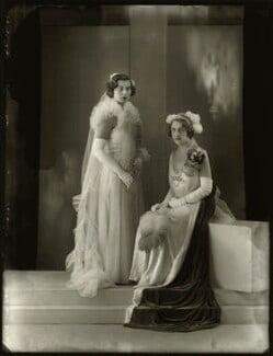 Mary Wigan (née Butler-Henderson); Hon. Sophia Zoe Isabelle Butler-Henderson (née Massey), by Bassano Ltd - NPG x150882