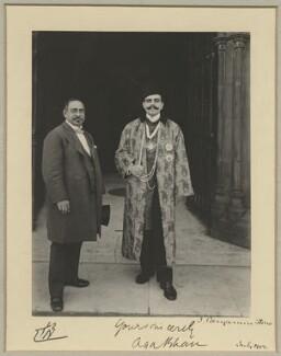 Sir Mancherjee Merwanjee Bhownaggree; Aga Khan III (Mohammed Shah), by Benjamin Stone, July 1902 - NPG x44818 - © National Portrait Gallery, London
