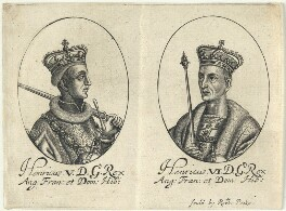 King Henry V; King Henry VI, probably by William Faithorne, published by  Sir Robert Peake - NPG D22807