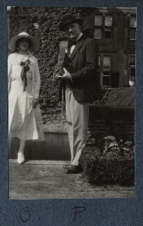 Lady Ottoline Morrell; Philip Edward Morrell, by Unknown photographer - NPG Ax143360