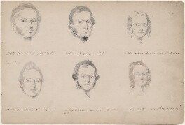 W.W. Ellwood; Alexander Gray; Miss Maynard; possibly Saunders Alex Smith; possibly Peart Robinson; Miss Boston, attributed to William Egley - NPG D23313(3)
