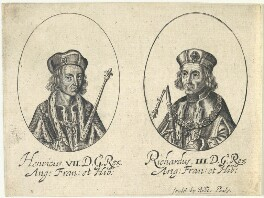 King Henry VII; King Richard III, probably by William Faithorne, published by  Sir Robert Peake - NPG D22809