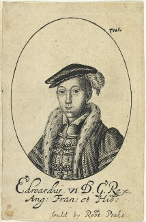 King Edward VI, probably by William Faithorne, published by  Sir Robert Peake - NPG D22811