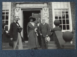 Philip Edward Morrell; Lady Ottoline Morrell and two others, by Unknown photographer - NPG Ax143362