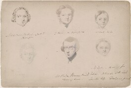 Miss Anderson; G. Mole; Miss Cook; Mr Reid; probably Mrs Cook and an unknown man, attributed to William Egley - NPG D23313(8)