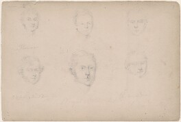 G.S. Layton and five unknown men, attributed to William Egley - NPG D23313(10)