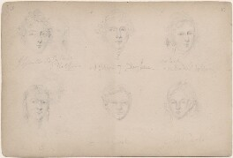 Mr Gibson; Mrs Leach; Mr Cook; Mrs Cook and two unknown sitters, attributed to William Egley - NPG D23313(15)