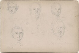 Five unknown men, attributed to William Egley - NPG D23313(16)