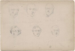 Leopold Redpath and five unknown men, attributed to William Egley - NPG D23313(18)