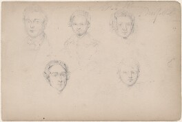 Five unknown sitters, attributed to William Egley - NPG D23313(28)
