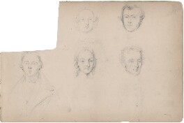 Five unknown sitters, attributed to William Egley - NPG D23313(30)