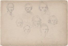 Eight unknown sitters, attributed to William Egley - NPG D23313(34)