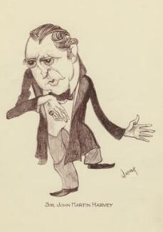 Sir John Martin-Harvey, by Mark Wayner (Weiner) - NPG D23320