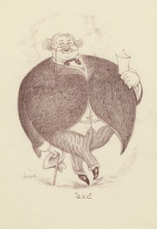 G.K. Chesterton, by Mark Wayner (Weiner) - NPG D23329