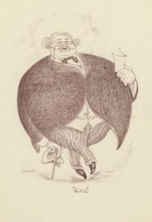G.K. Chesterton, by Mark Wayner (Weiner) - NPG D23329