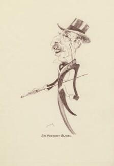 Herbert Louis Samuel, 1st Viscount Samuel, by Mark Wayner (Weiner) - NPG D23330