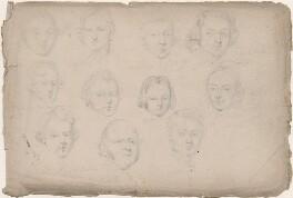 Eleven unknown sitters, attributed to William Egley - NPG D23313(42)