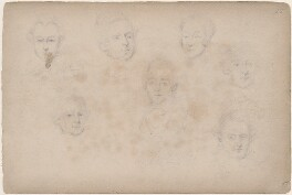 Wallis and six unknown sitters, attributed to William Egley - NPG D23313(44)