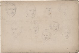 Captain Trevor; Mr Colvin; four members of the Colvin family and three unknown sitters, attributed to William Egley - NPG D23313(48)