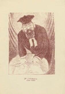 Joseph Herman Hertz, by Mark Wayner (Weiner) - NPG D23337
