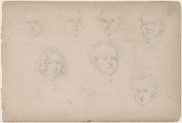 Mr Webb; Mrs Webb and five unknown sitters, attributed to William Egley - NPG D23313(56)