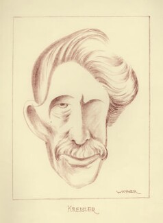Fritz Kreisler, by Mark Wayner (Weiner) - NPG D23340