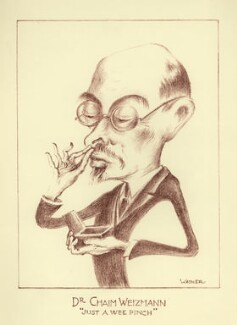 Chaim Azriel Weizmann, by Mark Wayner (Weiner) - NPG D23346