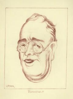 Franklin D. Roosevelt, by Mark Wayner (Weiner) - NPG D23349