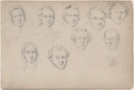 Mrs Ridgway; Morgan; Marshall; Captain Mill and five unknown sitters, attributed to William Egley - NPG D23313(66)