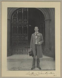 Sir (Joseph) Austen Chamberlain, by Benjamin Stone - NPG x9246