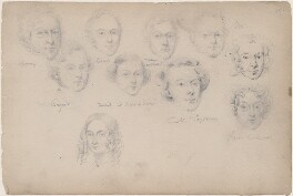 Mr Bryce; Wale and eight unknown sitters, attributed to William Egley - NPG D23313(70)