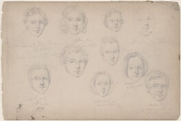 Dayner; W. Penfold; Mrs Bell; Mrs Kelly and six unknown sitters, attributed to William Egley - NPG D23313(72)