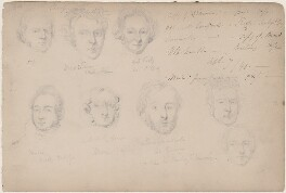 Ms Le Roux and seven unknown sitters, attributed to William Egley - NPG D23313(76)