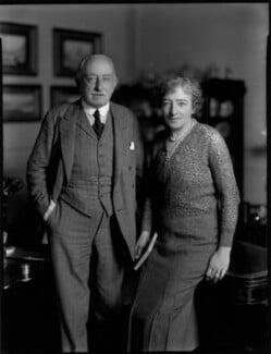 Hon. William Fitzwilliam James Dundas; Mary Maud Dundas (née Prinsep), by Bassano Ltd - NPG x150962
