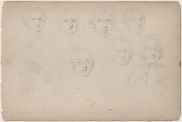 Seven unknown sitters, attributed to William Egley - NPG D23313(73)