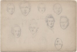 Possibly Captain Richardson and eight unknown sitters, attributed to William Egley - NPG D23313(67)