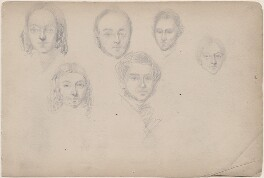 Six unknown sitters, attributed to William Egley - NPG D23313(65)