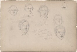 J. De Leon; Mr Brock and five unknown sitters, attributed to William Egley - NPG D23313(61)
