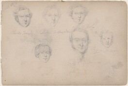 Possibly Linton Steamer and five unknown sitters, attributed to William Egley - NPG D23313(57)