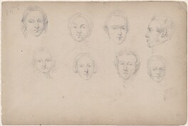Eight unknown sitters, attributed to William Egley - NPG D23313(53)