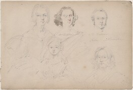 Mr Cuddon; Mrs Cuddon and probably several family members, attributed to William Egley - NPG D23313(49)